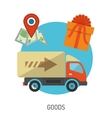Delivery Goods Flat Icons vector image
