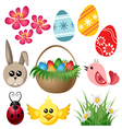 Easter symbol set vector image