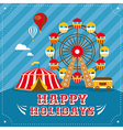 Entertainment vintage greeting card vector image