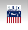 fourth of july us independence day poster vector image