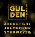 Golden font alphabet with gold effect letters vector image