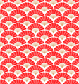Japanese and Chinese Fans Seamless Pattern vector image