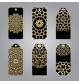 Rich gold gift tags in the Arabic style vector image