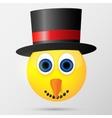 Snowman emoticon emoji smiley vector image