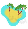 with boats sand and palm trees vector image