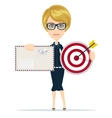 woman with target and letter vector image