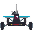 car transport robot technology android metal icon vector image