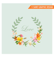 Vintage Floral Graphic Design - Summer Lily Flower vector image