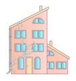 traditional and modern house family home flat vector image