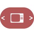 tv icon flat design style vector image