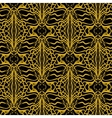 Lacing geometric ornament in art deco style vector image