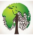 green world map tree stock vector image