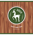 New year greeting card with goat vector image