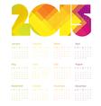 calendar 2015 colorful vector image vector image