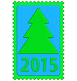 New year on stamp vector image