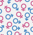 Seamless Pattern of Gender Icons Wallpaper of Male vector image