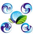 wave symbols vector image vector image