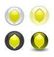 lemon button set web 20 icons vector image