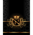 golden ornate frame vector image vector image