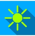 Brightness Flat Long Shadow Square Icon vector image