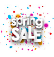 Spring sale paper background vector image