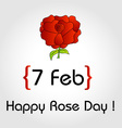 Happy Rose day card for february 7th vector image