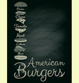 Burger Menu Poster on Chalkboard vector image