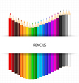 Colour pencils on white background vector image