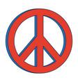 hippie peace love circle button element symbol vector image
