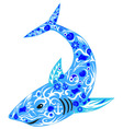 shark blue vector image