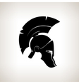 Silhouette helmet on a light background vector image