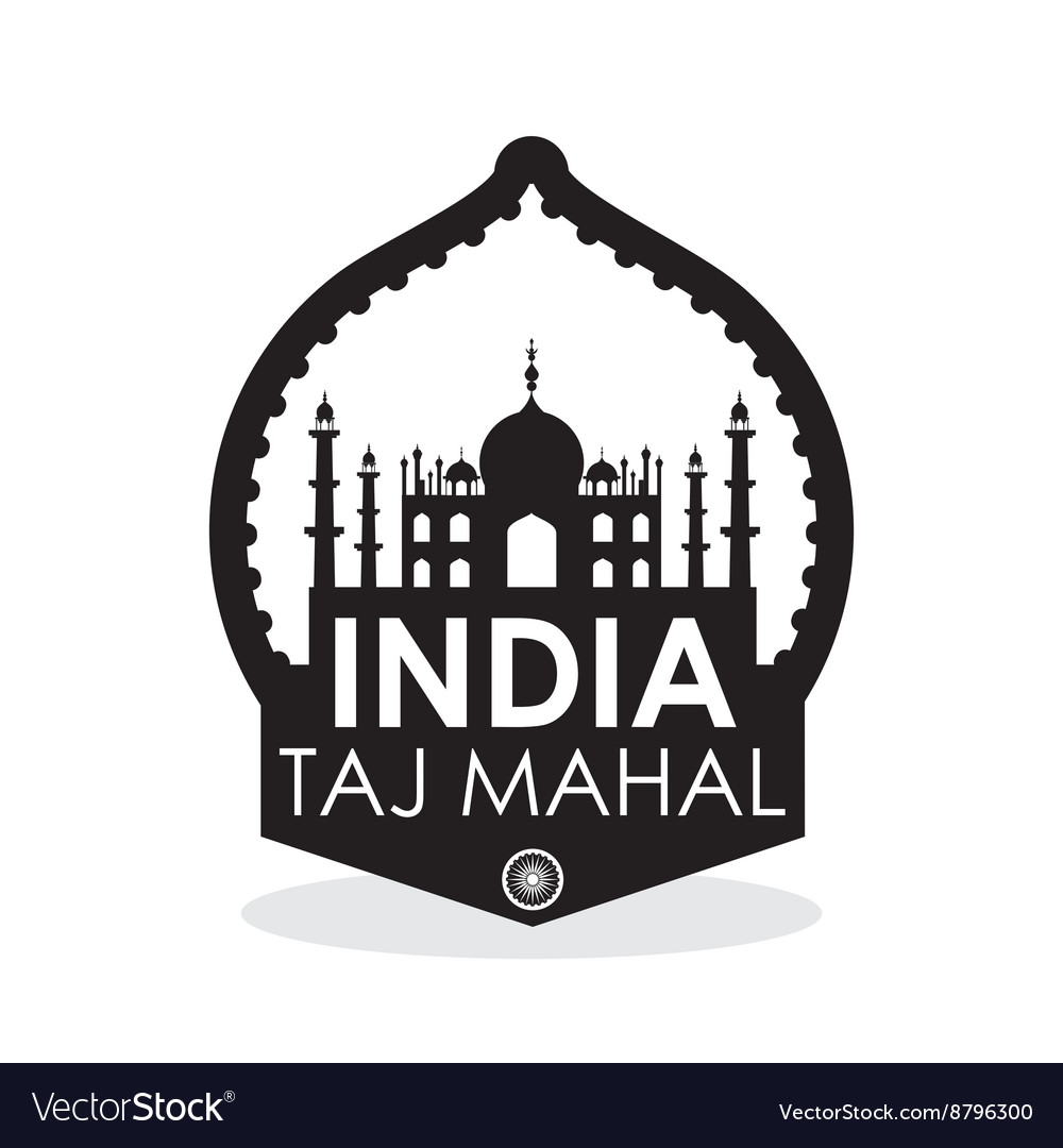 India design culture concept white background vector