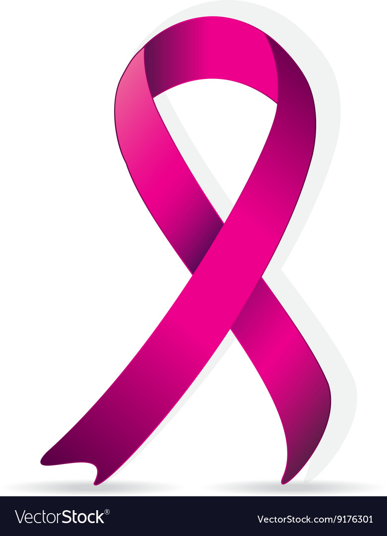 Breast cancer logo for poster pink ribbon vector