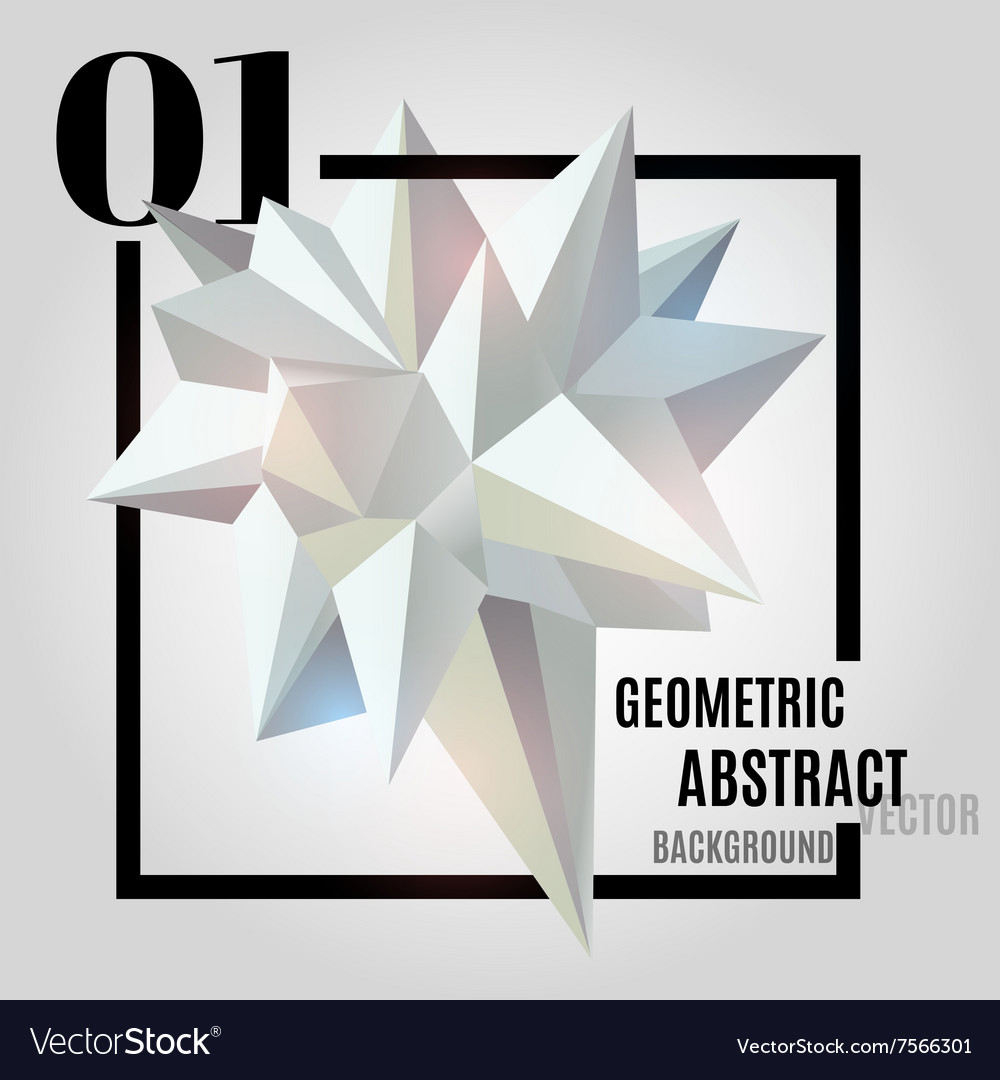 Light abstract geometric polygonal shape vector