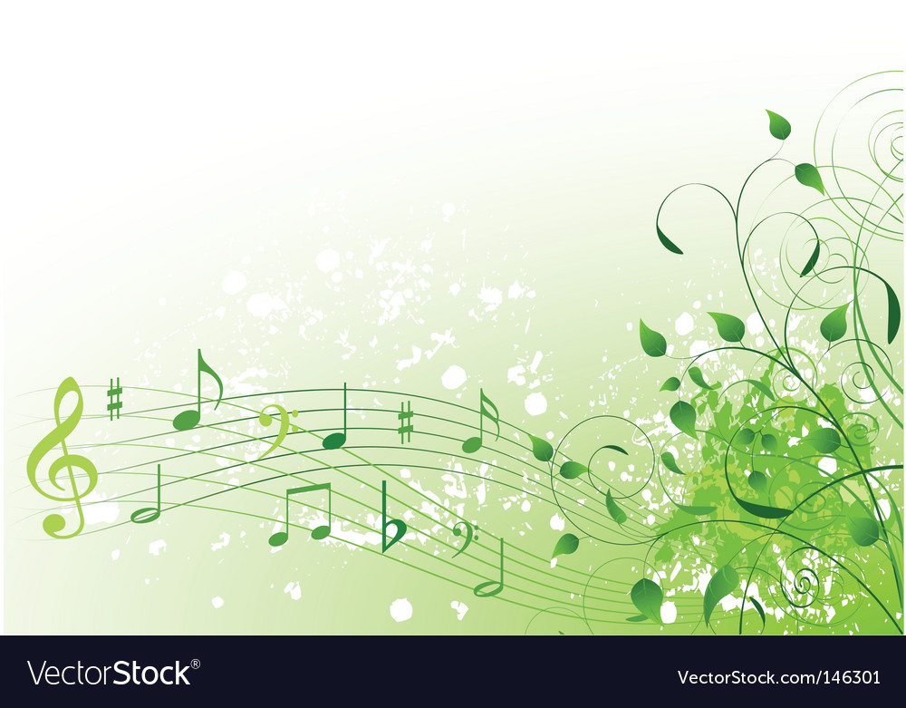 Spring song background vector