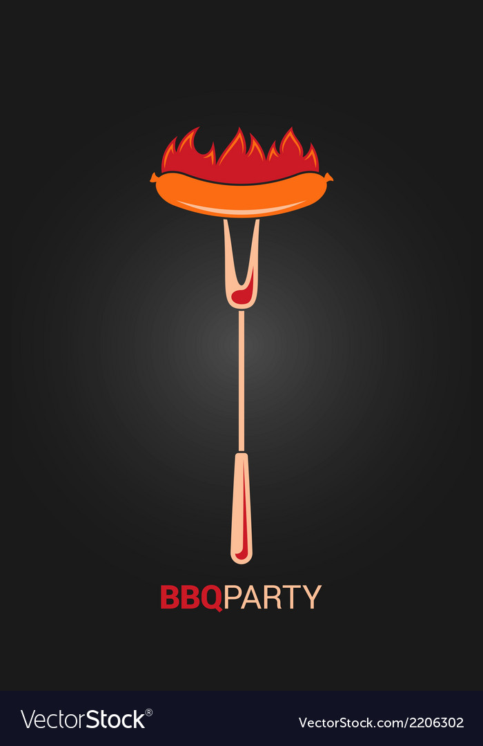 Barbecue grill party design menu background vector
