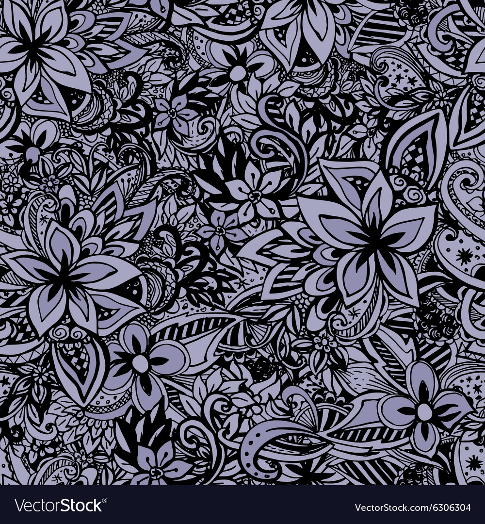 Uncolored hand drawn lined pattern vector