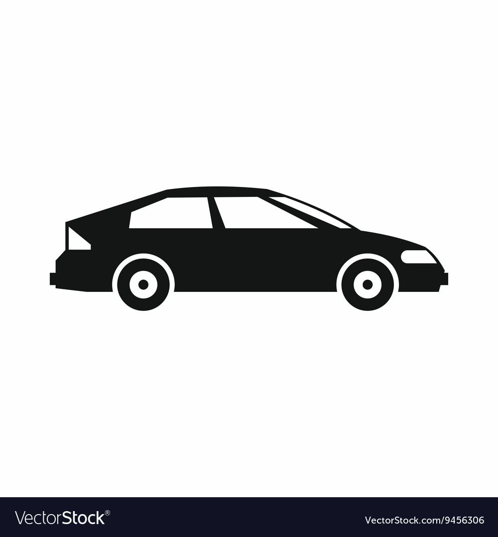 Car icon simple style vector