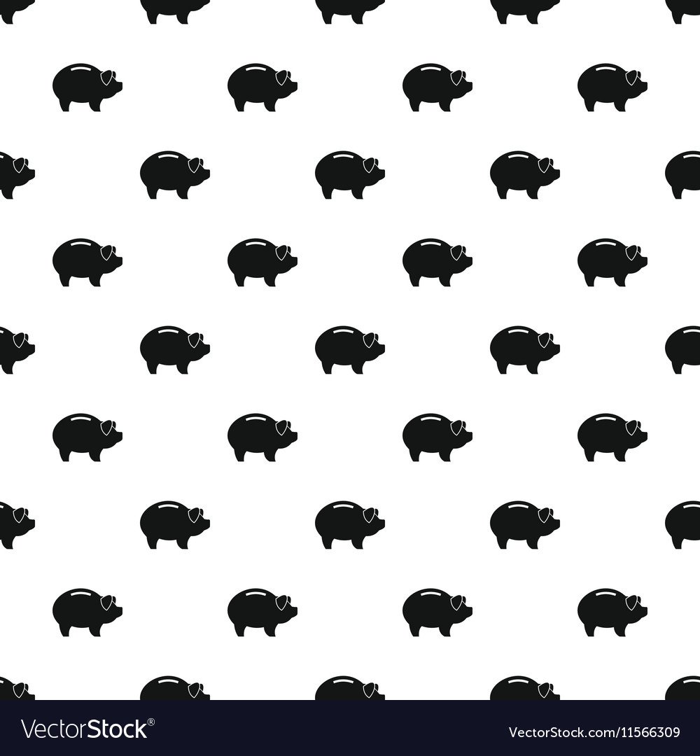 Piggy bank pattern simple style vector