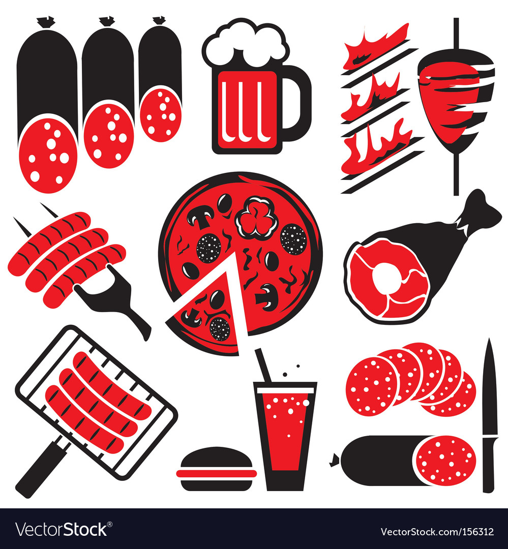 Food barbecue vector