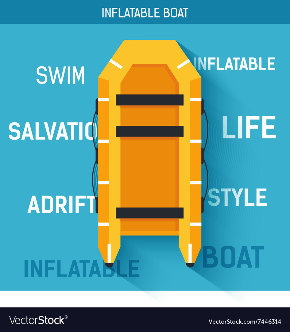Boat for rafting or swimming on the water vector