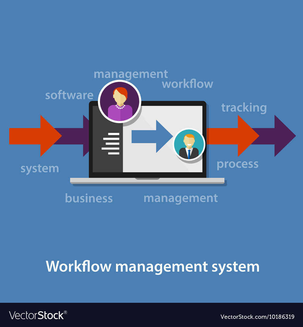 Business workflow management system process vector