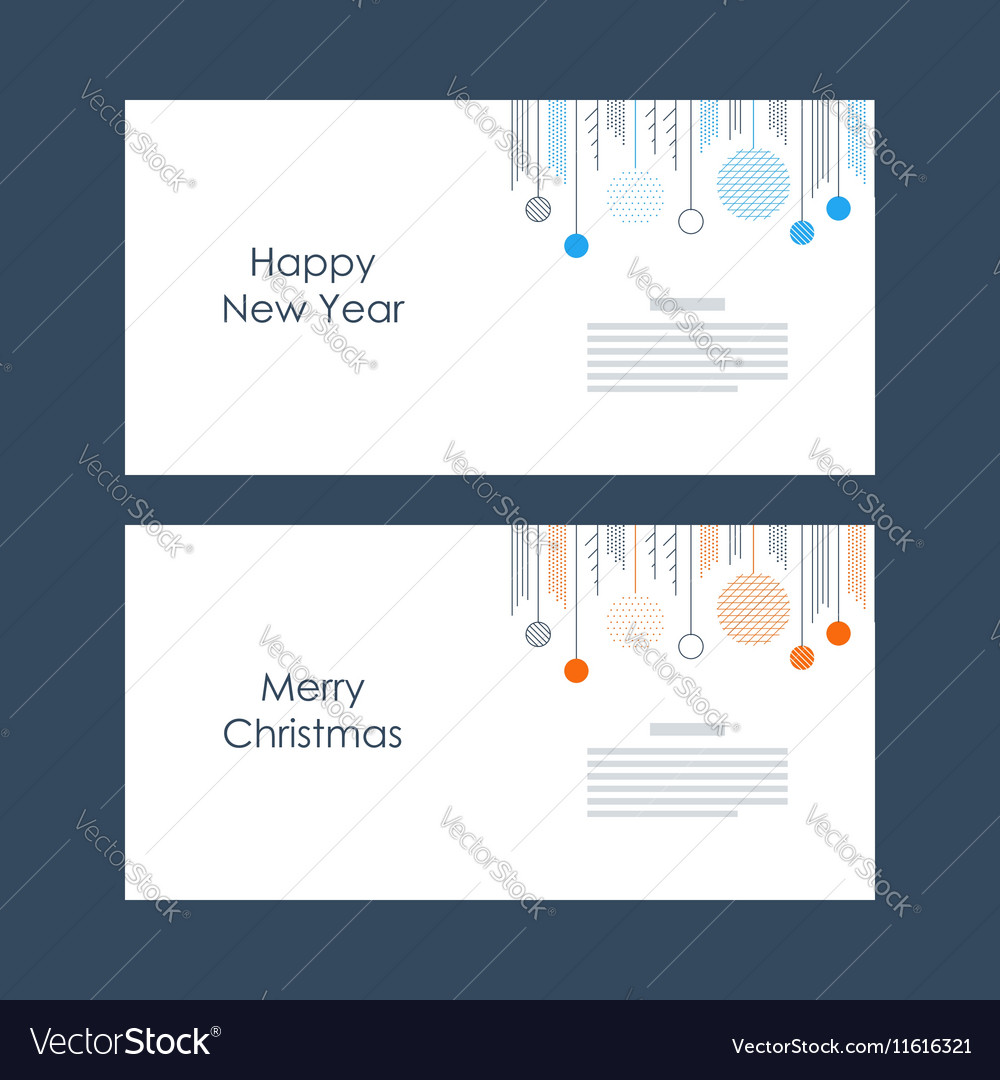 New year christmas card template xmas minimalistic vector