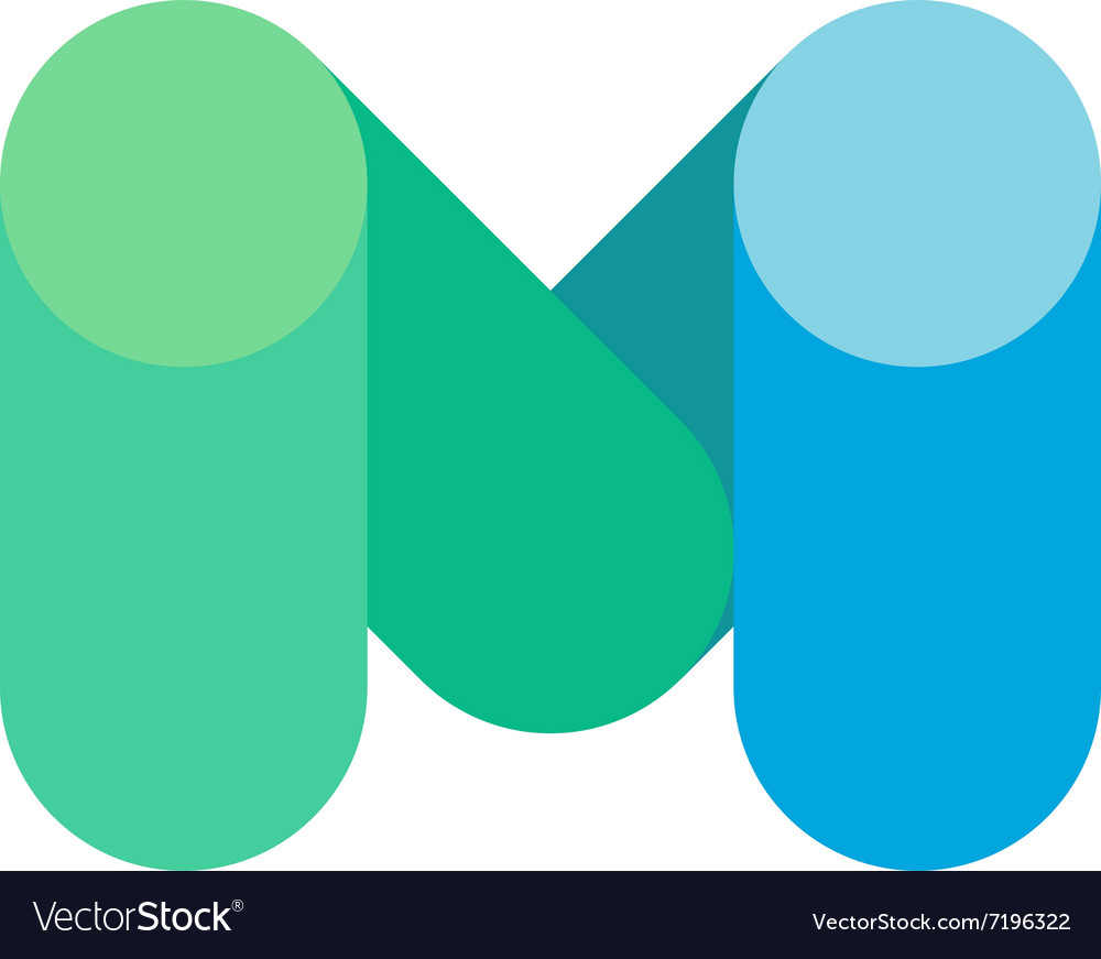 Abstract letter m logo design template colorful vector