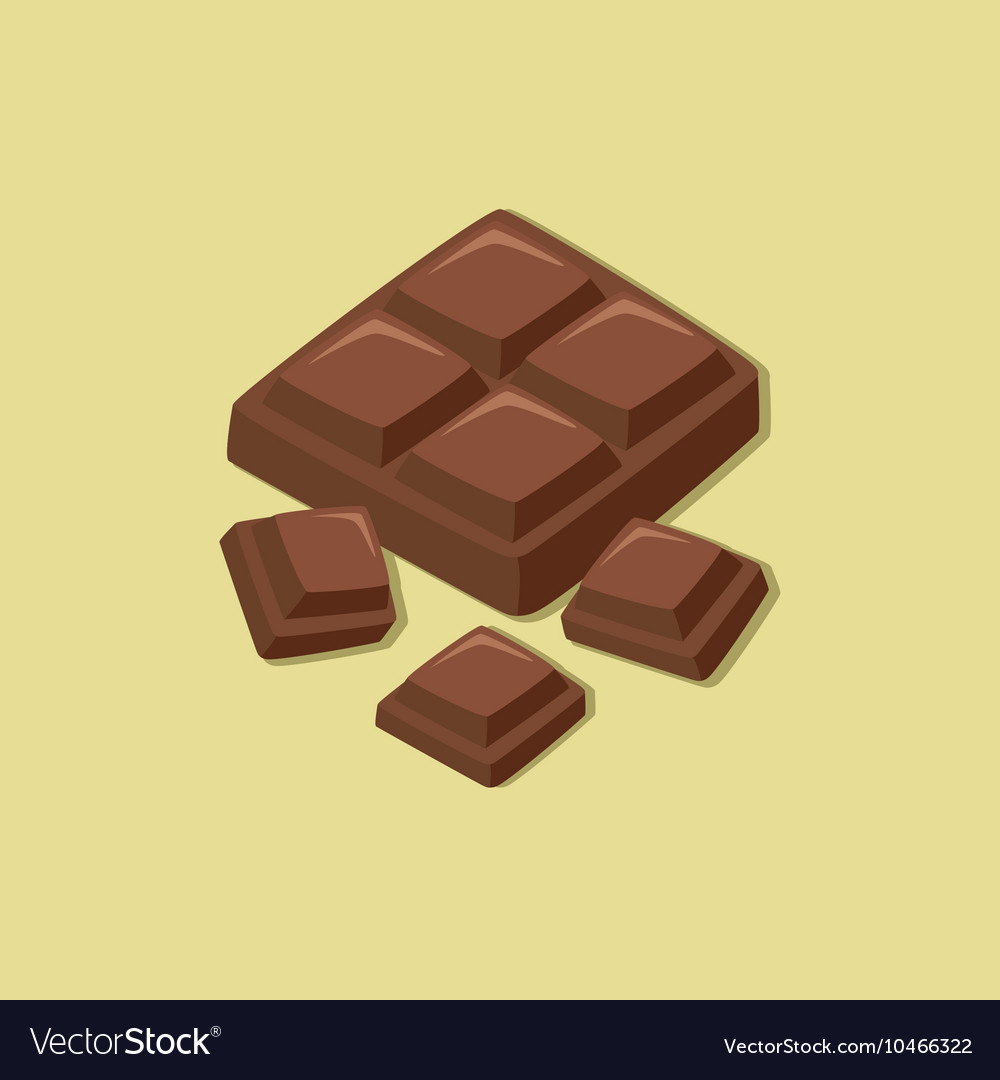 Chocolate block vector