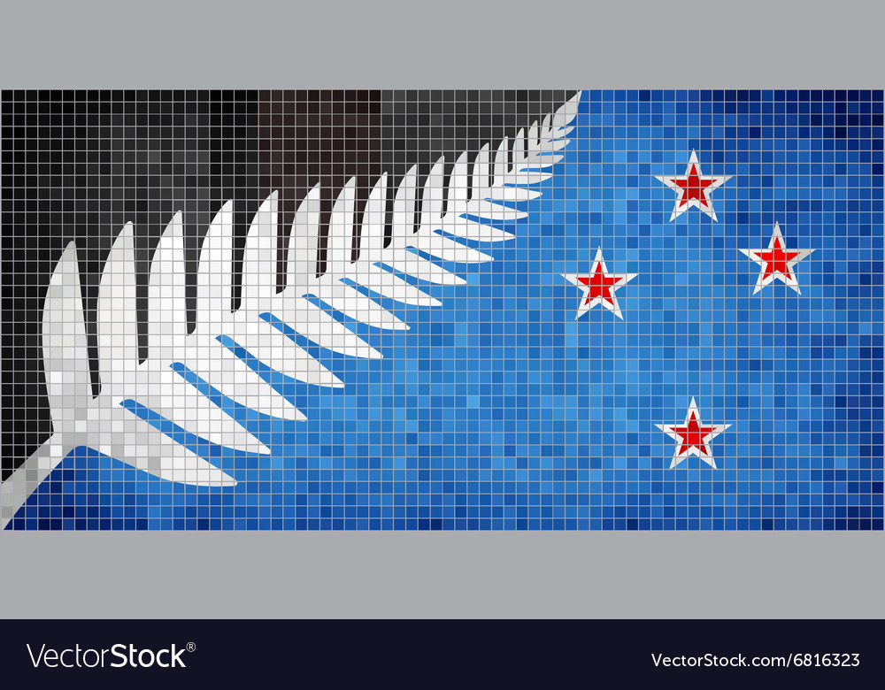 New flag of new zealand vector