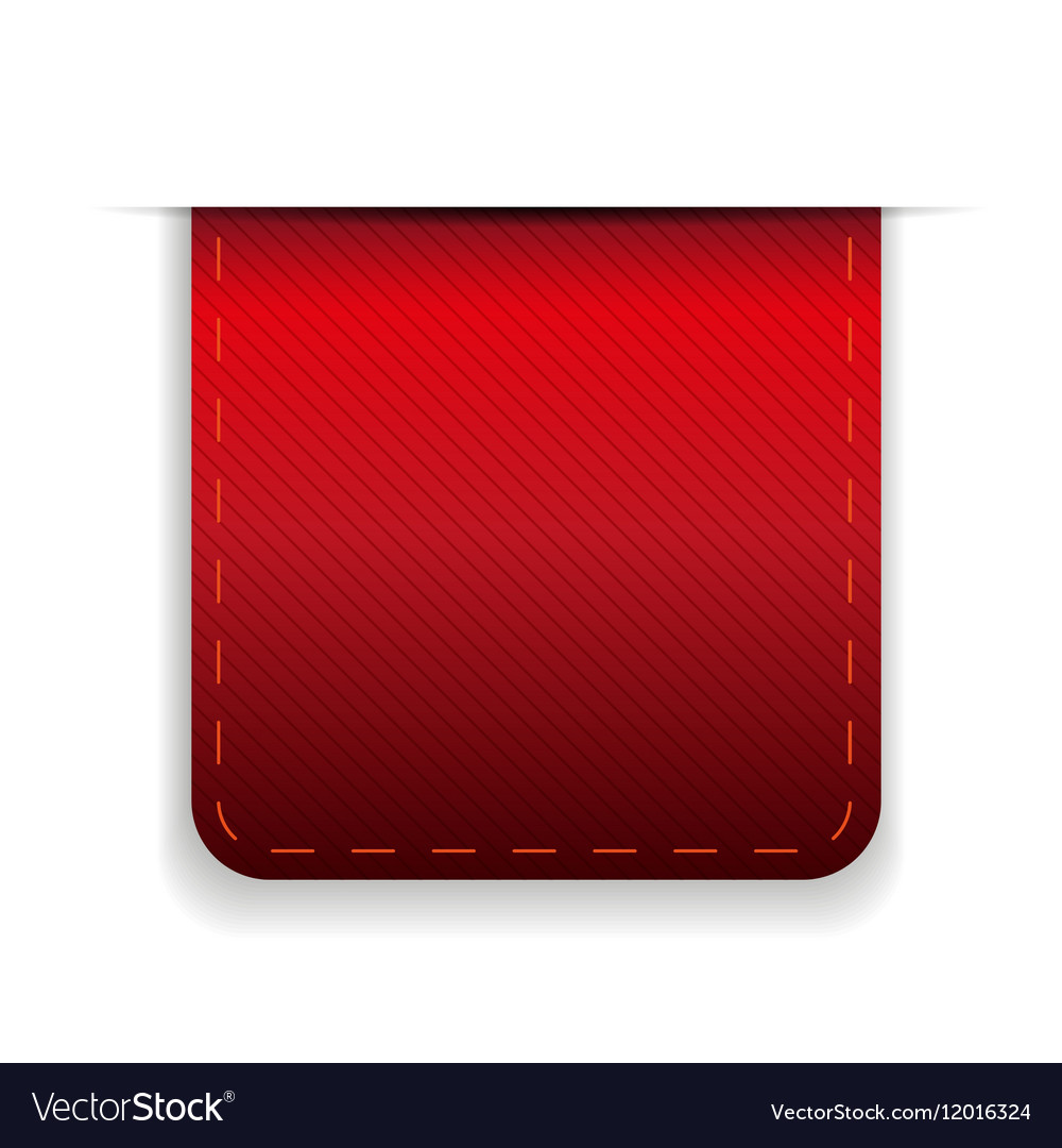 Empty ribbon red vector