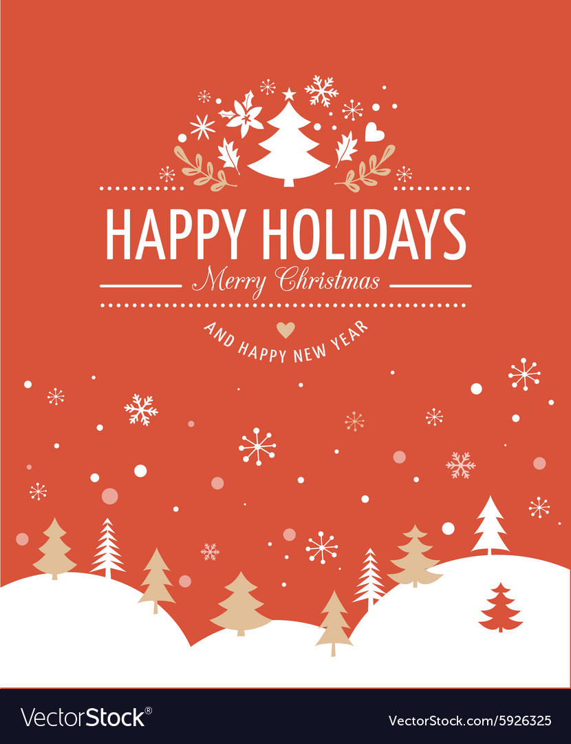 Christmas background with typography vector