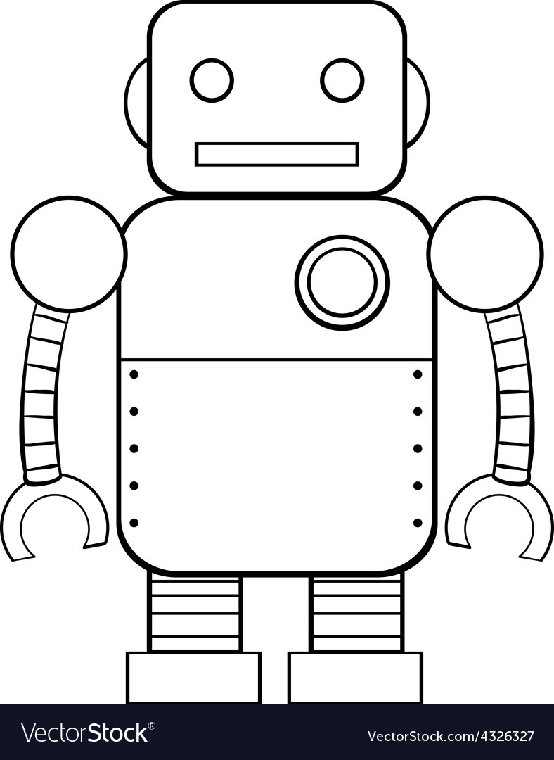 Square robot vector