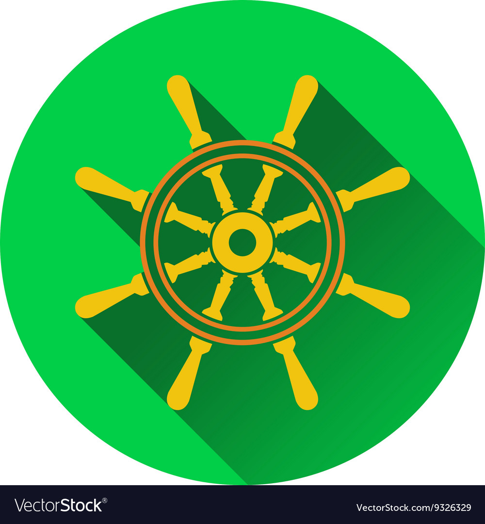 Icon of steering wheel vector